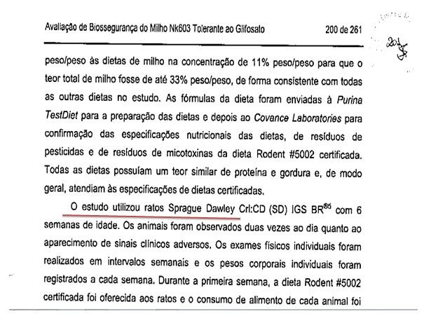 Dois pesos e duas medidas: CTNBio criticou linhagem de ratos usada por equipe francesa mas aceitou estudo da Monsanto com os mesmo ratos mais velhos e por menos tempo