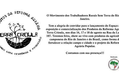 MST inaugura espaço de comercialização no Rio de Janeiro