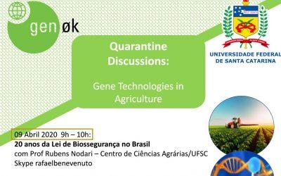 Discussões na quarentena – biossegurança e edição genética